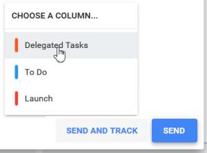 Send and Track - Choose a Column - FLOW-e