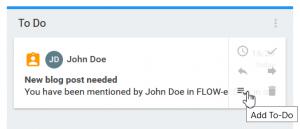 Send and Track - ToDo Card - FLOW-e