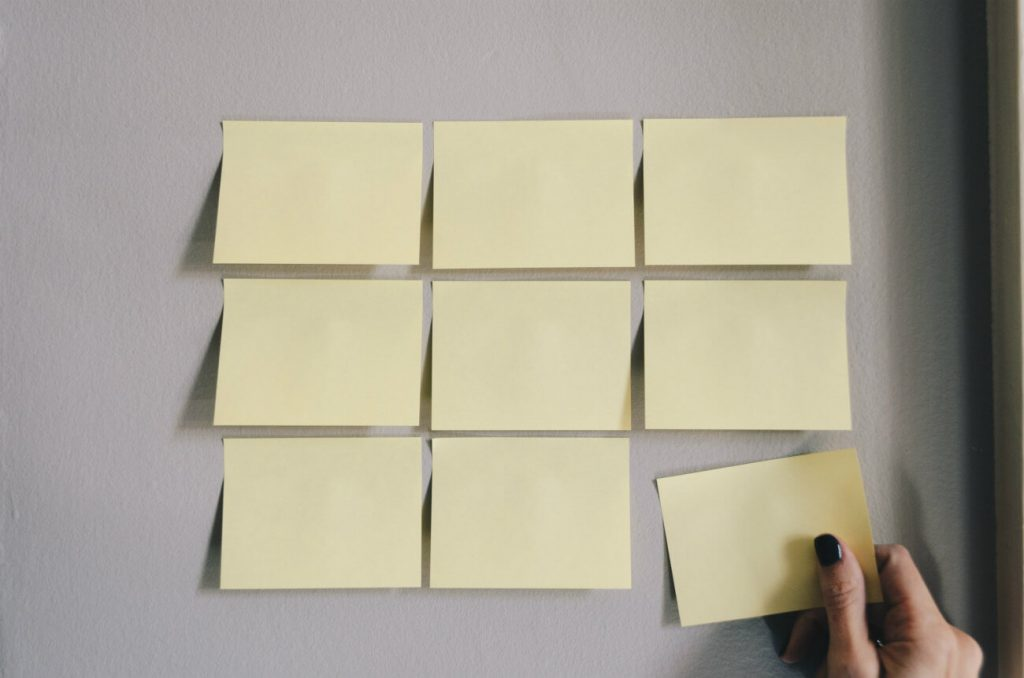 Personal Kanban Board with Sticky Notes