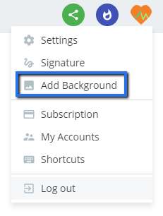 Add background setting in Flow-e