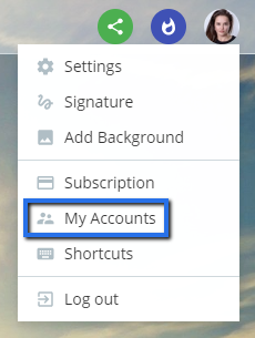 My account setting in Flow-e