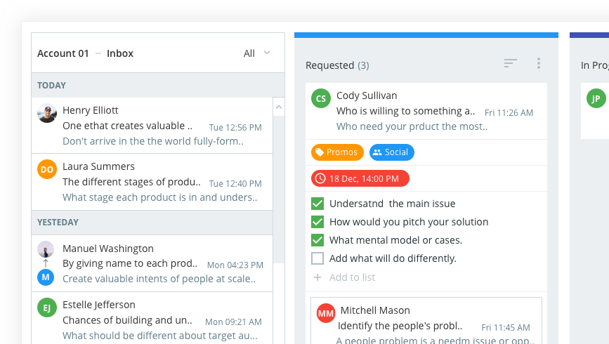 Inbox solution for Project Managers