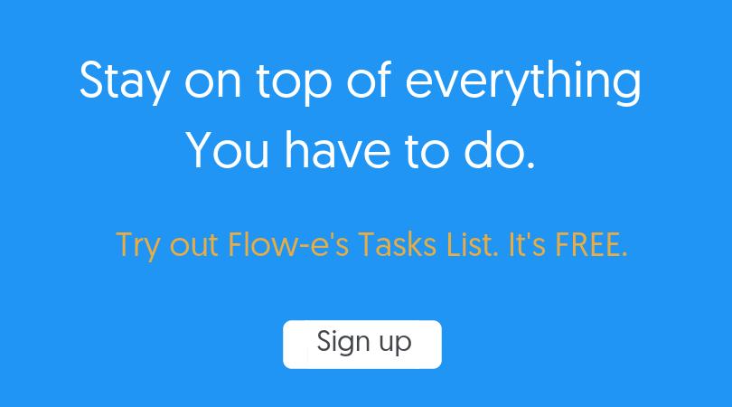 Signup for Flow-e task list